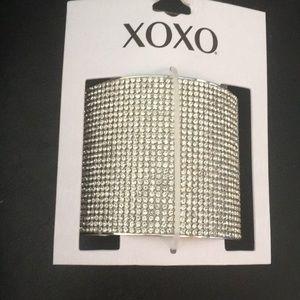 Xoxo silver pave cuff